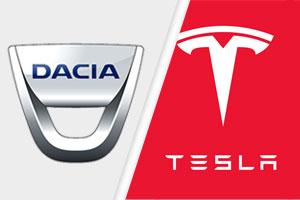 Tesla vs dacia