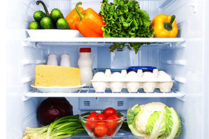 Fresh food in a fridge