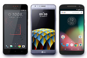 Motorola, HTC and LG phones