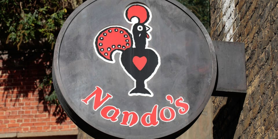 Nandos restaurant sign