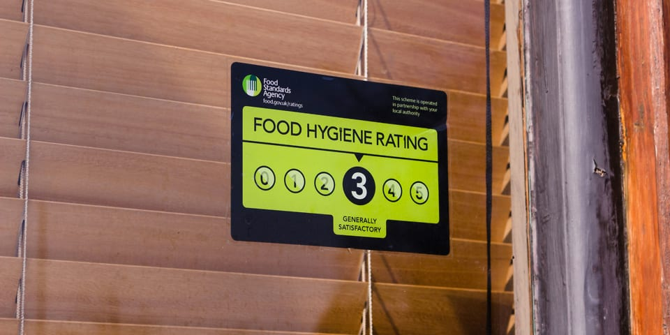 Which Reveals The Areas With The Worst Food Hygiene Which