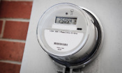 Close up of a smart energy meter