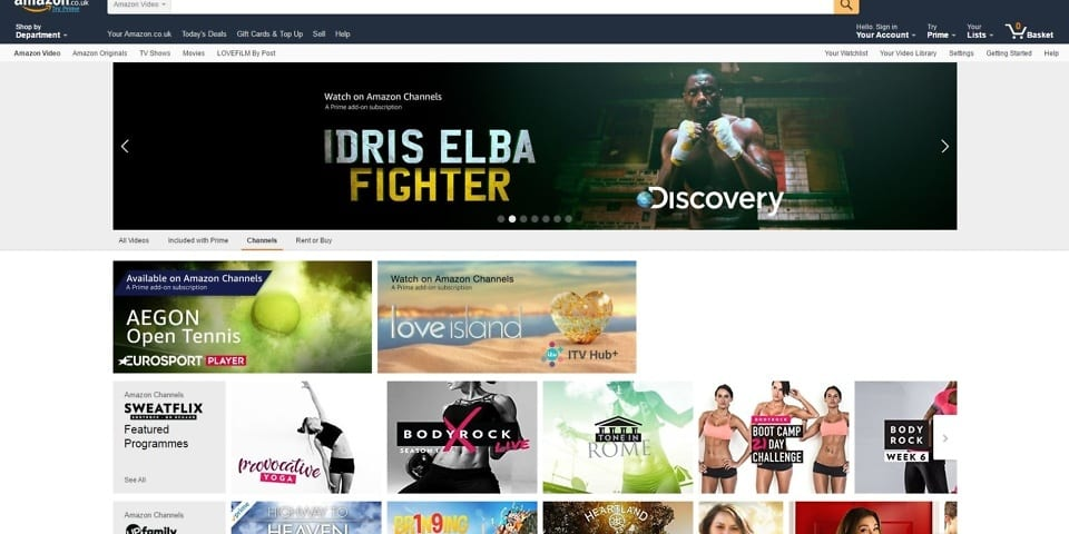 Amazon Channels brings live TV networks to Prime Video