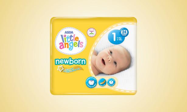 Asda Little Angels Newborn nappies product recall