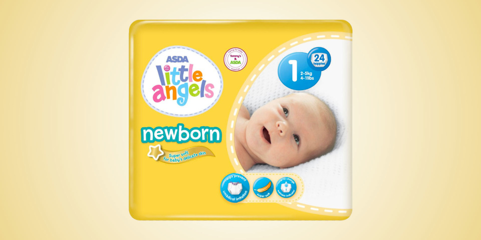 Asda Little Angels Newborn nappies product recall