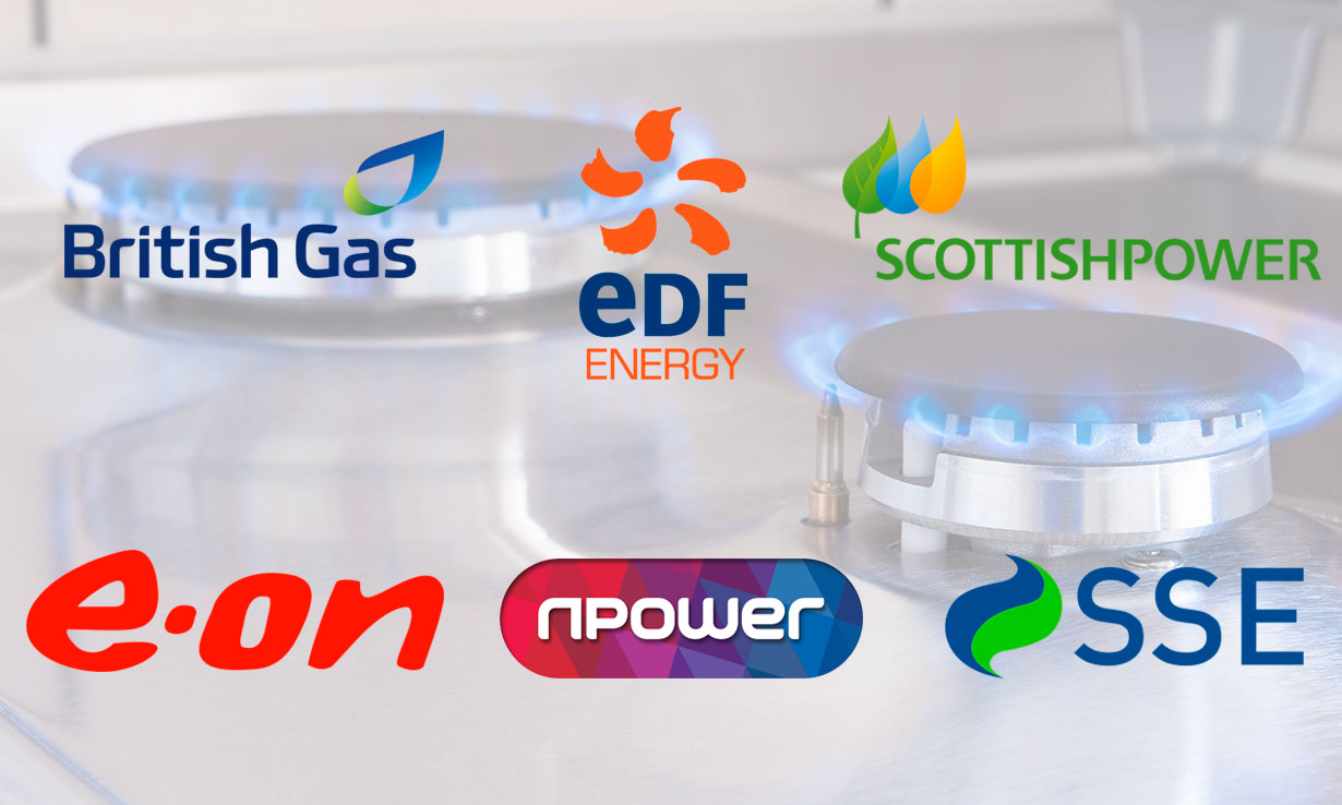 Logos of the Big Six energy firms