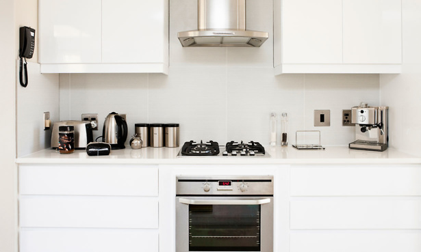 Kitchen appliances in a kitchen