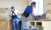 Builders doing home improvements