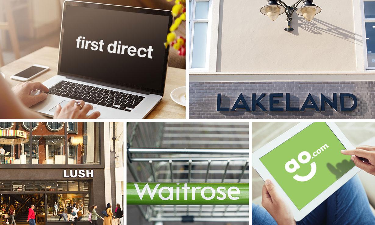 Five best brands for customer service: First Direct, Lakeland, Lush, Waitrose, AO.com