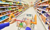 Which supermarket was cheapest in July 2017?