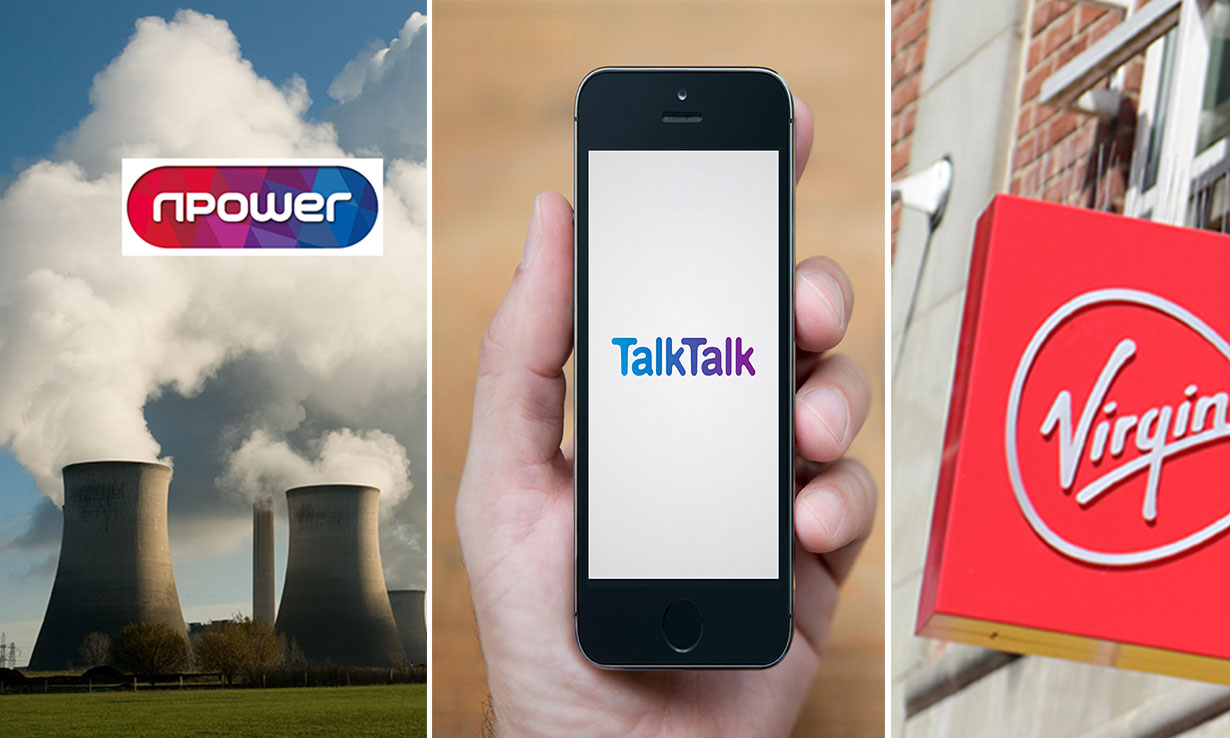 Npower, Talk Talk, Virgin