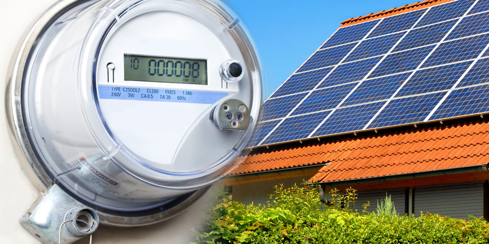 Smart meter and solar panels