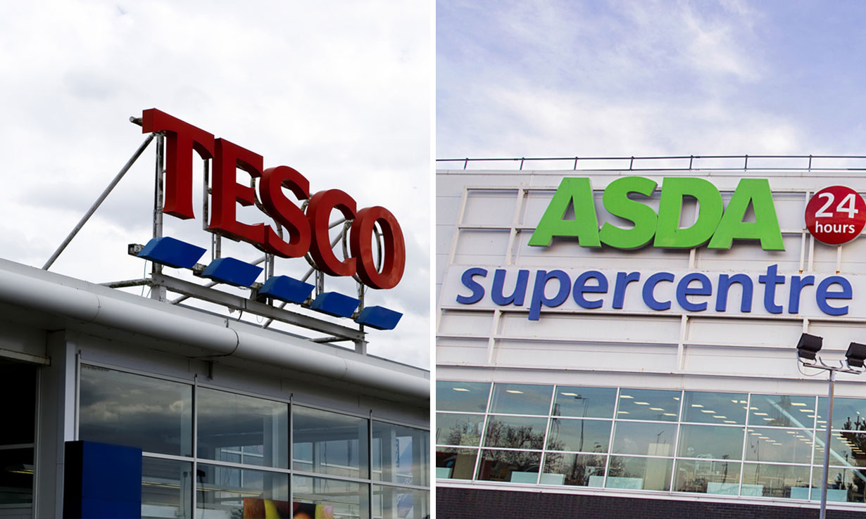 Tesco and Asda