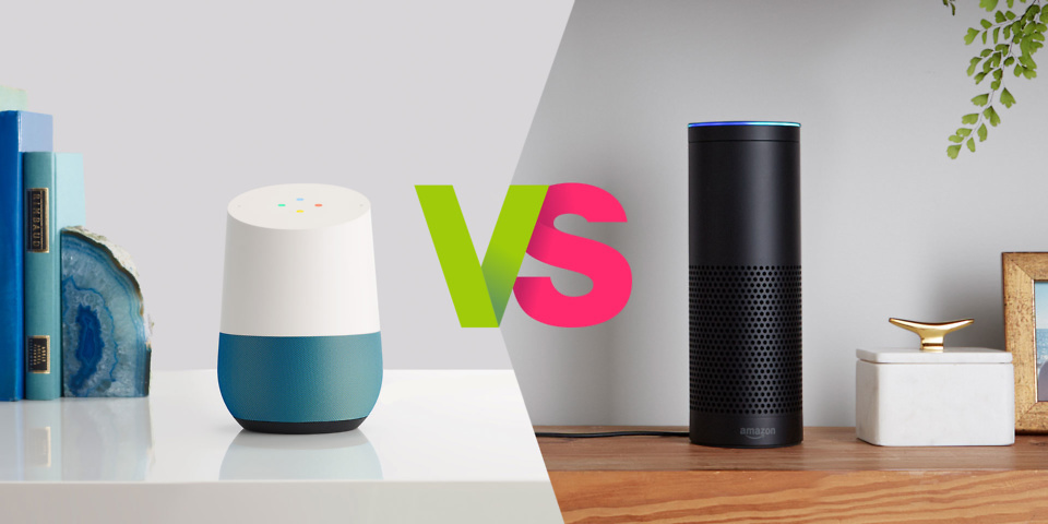amazon echo vs google home which understands you best which news. Black Bedroom Furniture Sets. Home Design Ideas