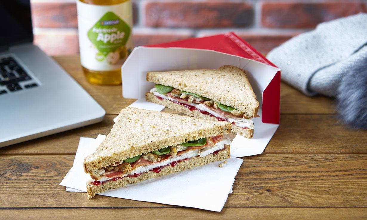 Greggs Christmas Lunch Sandwich