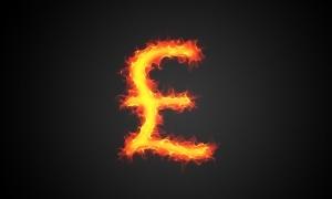 Pound symbol on fire