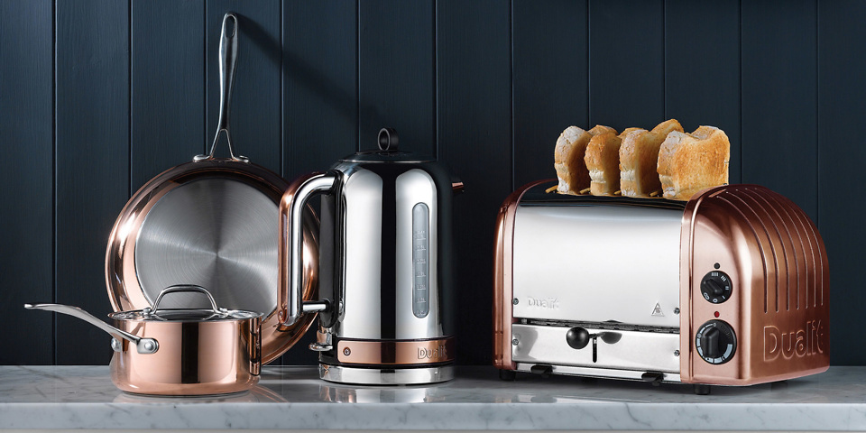 Dualit copper classic kettle and toaster