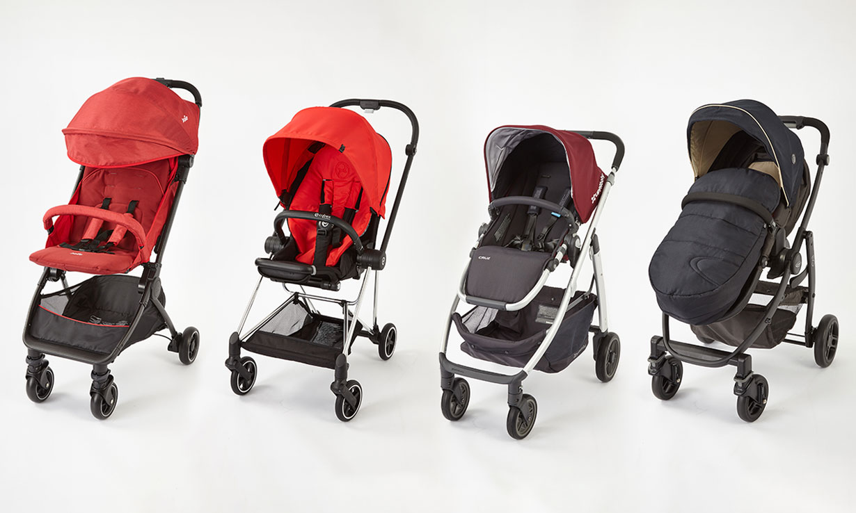 The Joie Pact, Cybex Mios, The Uppababy Cruz 2017, Graco Evo 2017