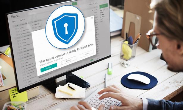 Antivirus update on computer
