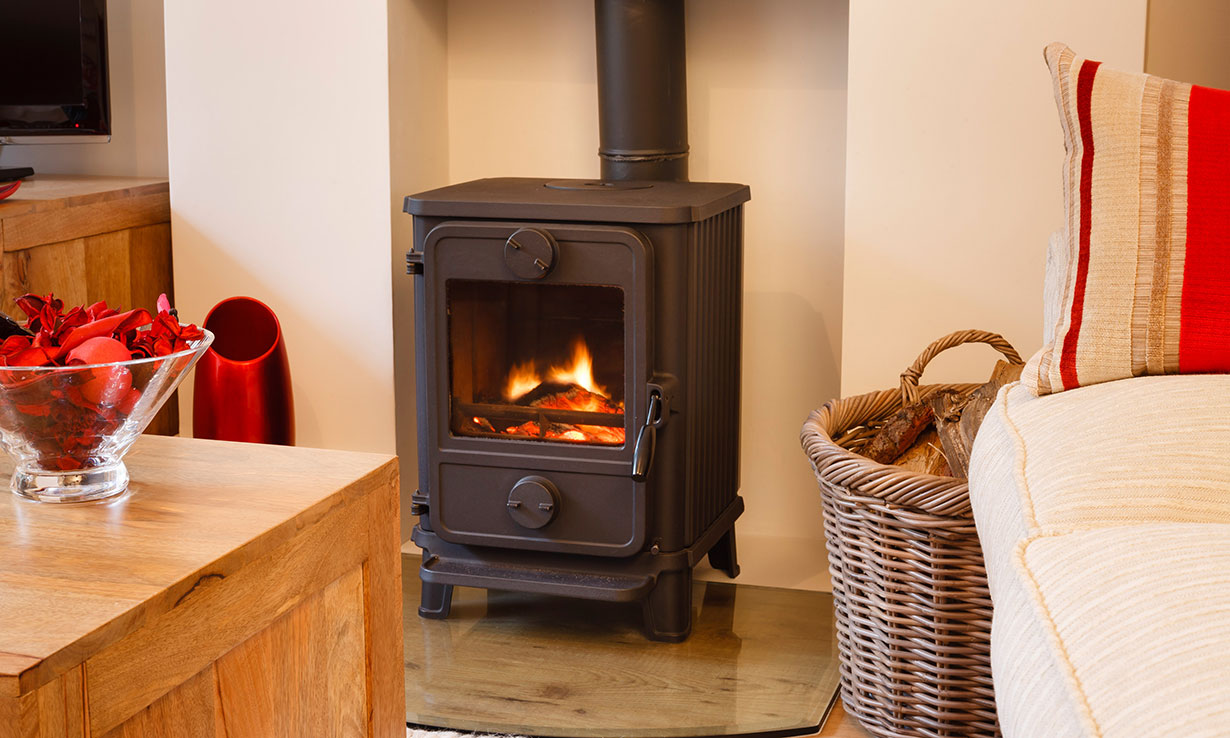 Image of a cosy home with fire