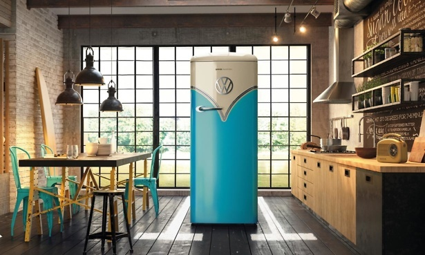 Gorenje OBRB153BL VW fridge in kitchen