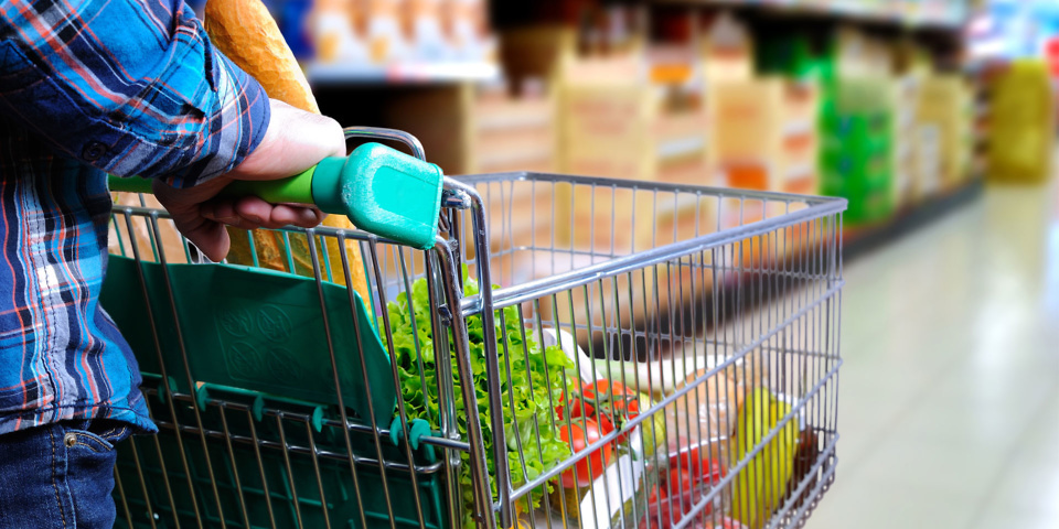 Which supermarket was cheapest in April 2019?
