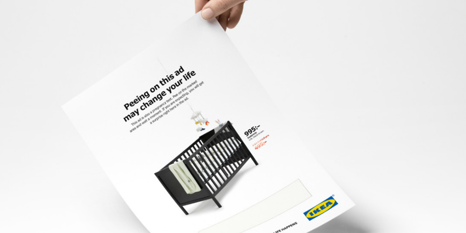 IKEA Ad Reveals Crib Coupon When Pregnant Women Pee On It
