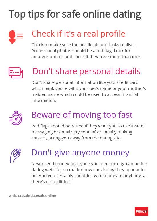 Top tips for staying safe dating online