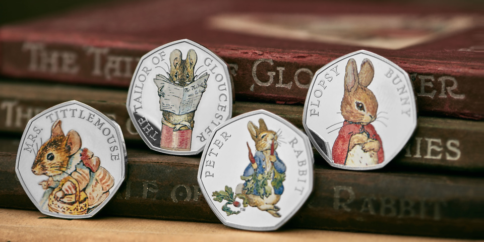 Four new peter rabbit 50p coins for 2018 which news for Garden 50 designs to help you destress