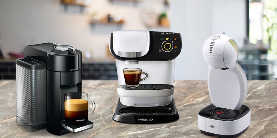 Nespresso Vertuo, Tassimo My Way, Dolce Gusto Colours compared