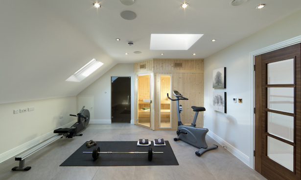 Gym in loft conversion