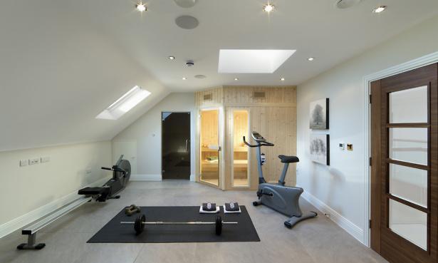Gym in loft conversion