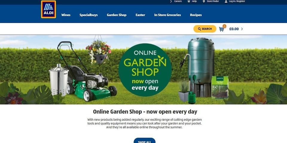 aldi opens an online garden shop which news. Black Bedroom Furniture Sets. Home Design Ideas