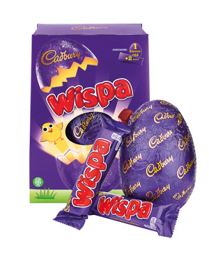 Wispa Easter egg with bars