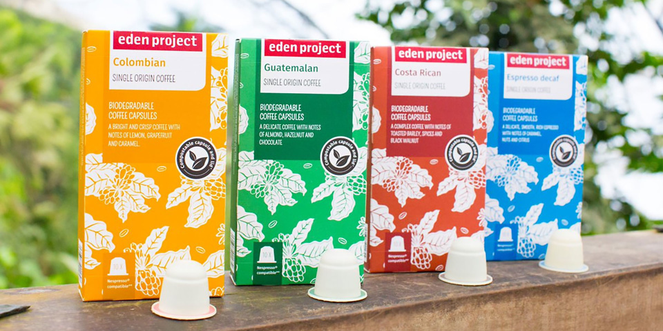 Eden Project launches eco-friendly Nespresso pods
