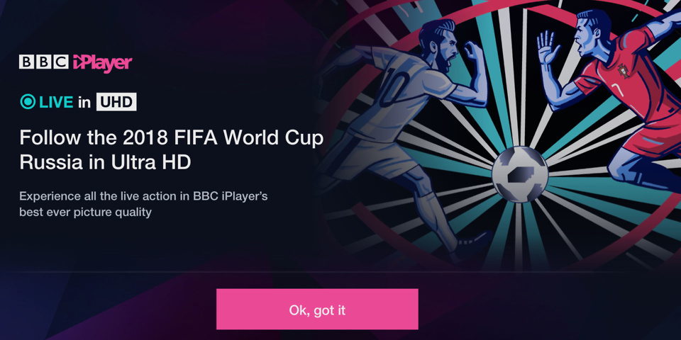 Watch the 2018 World Cup in 4K and HDR on BBC iPlayer