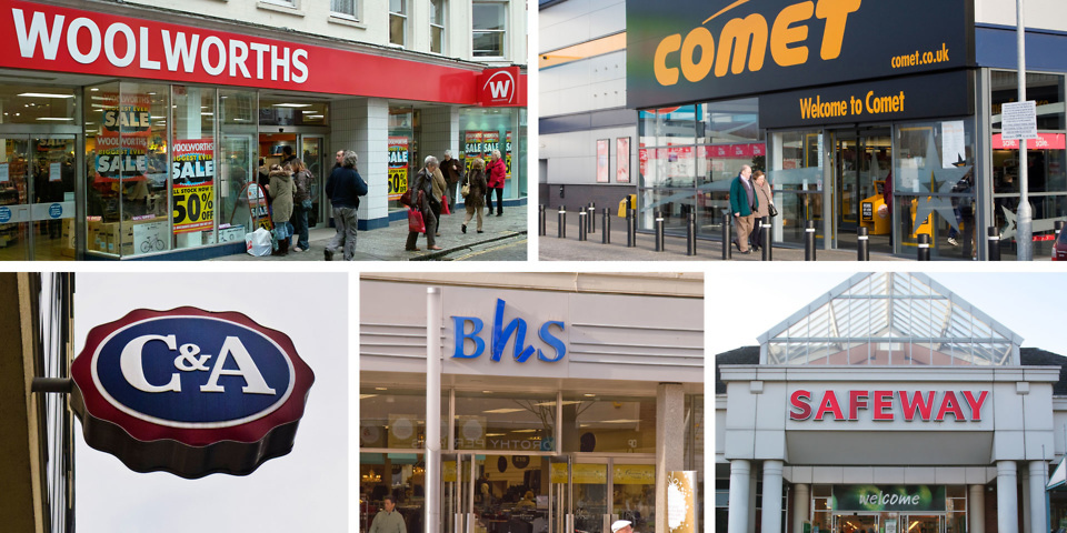Which high street shops do you miss the most?