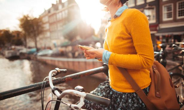 woman exploring amsterdam