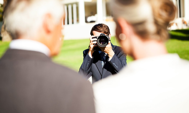 Photographer taking pictures at a wedding
