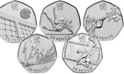 Could you spot the rarest 50p coins in the Olympics series?