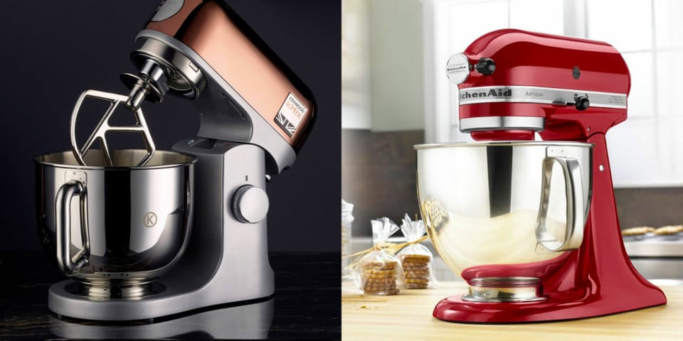 Best deals on KitchenAid and Kenwood stand mixers