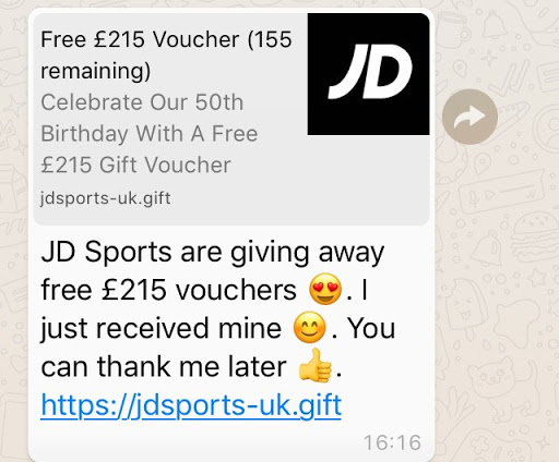 Which Warns Of Jd Sports Whatsapp Scam Which News