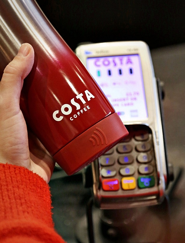 Costa has designed a contactless reusable coffee cup
