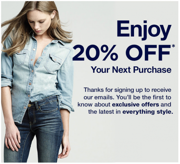 Gap promotion marketing email