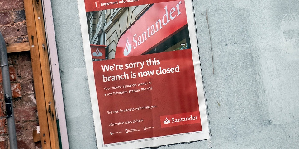 Santander to axe 140 bank branches in 2019