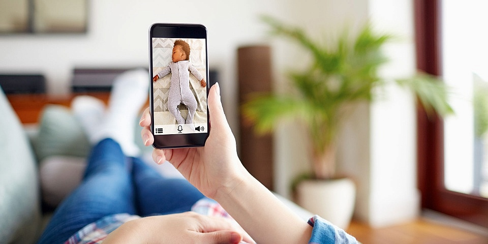 A baby monitor helps to ease your worries as it lets you watch over your baby at a distance