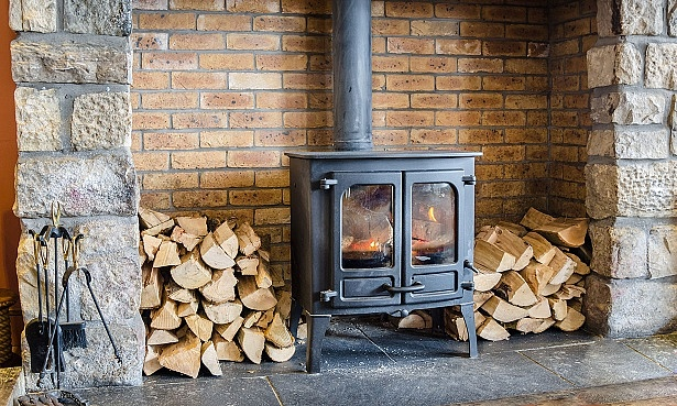 Dry firewood for a stove