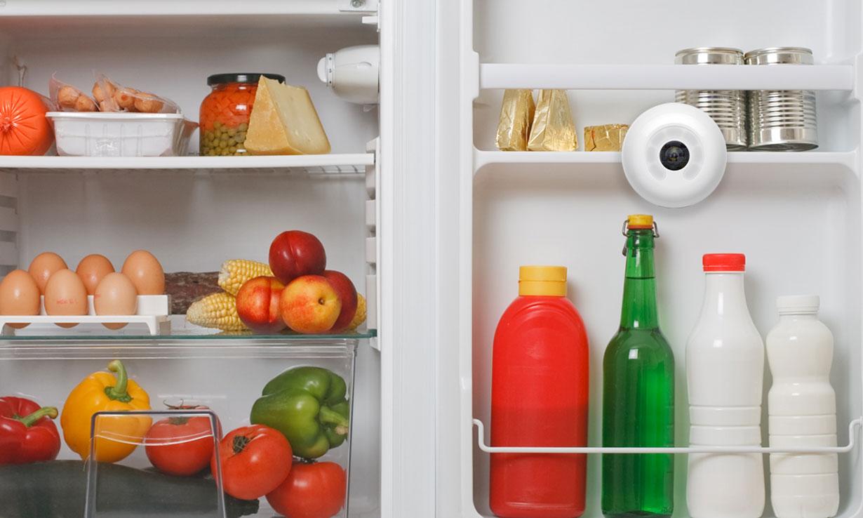 Smarter Fridge Cam in fridge door