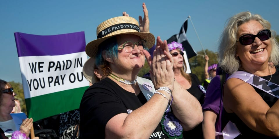 Women resume fight for a fair state pension