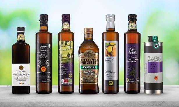 Asda, Lidl, Tesco, Sainsbury's, M&S and Waitrose extra virgin olive oils